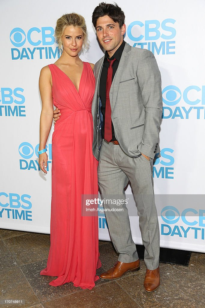 Actress Linsey Godfrey (L) and actor Robert Adamson attend The 40th Annual Daytime Emmy Awards After Party at The Beverly Hilton Hotel on June 16, 2013 in Beverly Hills, California.