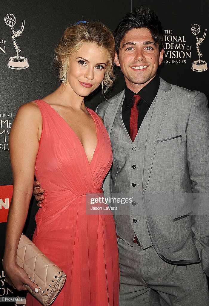 Actress Linsey Godfrey and actor Robert Adamson attend the 40th annual Daytime Emmy Awards at The Beverly Hilton Hotel on June 16, 2013 in Beverly Hills, California.