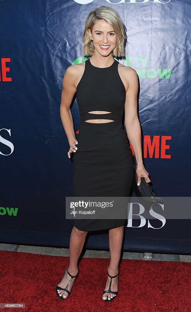 Actress <a gi-track='captionPersonalityLinkClicked' href=/galleries/search?phrase=Linsey+Godfrey&family=editorial&specificpeople=7905776 ng-click='$event.stopPropagation()'>Linsey Godfrey</a> arrives at CBS, CW And Showtime 2015 Summer TCA Party at Pacific Design Center on August 10, 2015 in West Hollywood, California.