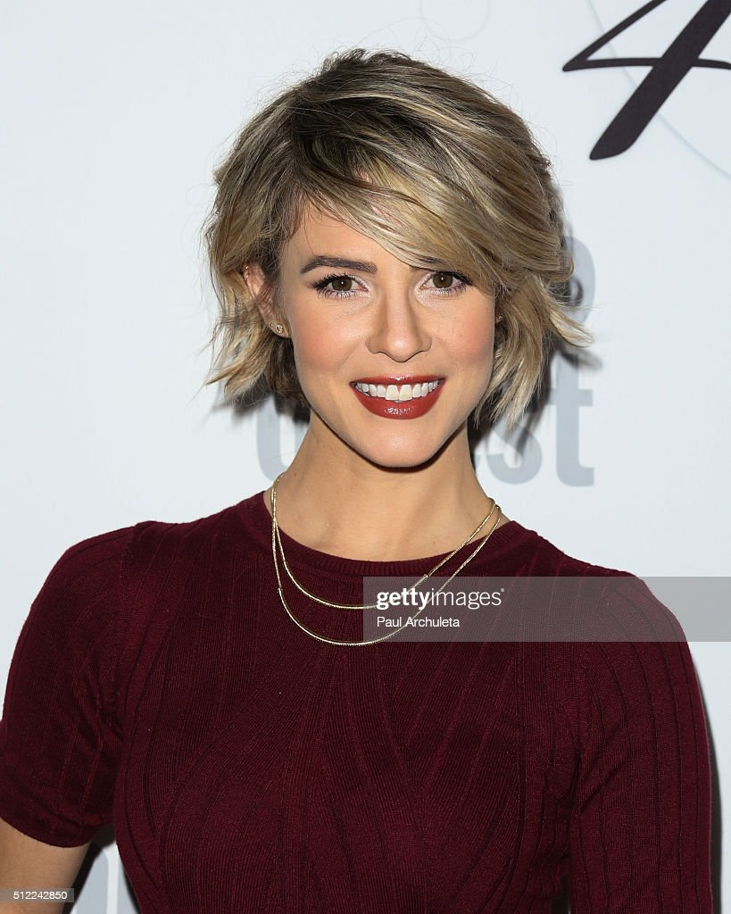 Actress <a gi-track='captionPersonalityLinkClicked' href=/galleries/search?phrase=Linsey+Godfrey&family=editorial&specificpeople=7905776 ng-click='$event.stopPropagation()'>Linsey Godfrey</a> attends Soap Opera Digest's 40th Anniversary celebration at The Argyle on February 24, 2016 in Hollywood, California.