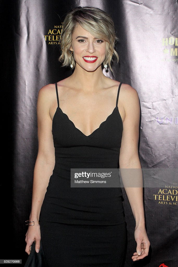 Actress <a gi-track='captionPersonalityLinkClicked' href=/galleries/search?phrase=Linsey+Godfrey&family=editorial&specificpeople=7905776 ng-click='$event.stopPropagation()'>Linsey Godfrey</a> attends the 2016 Daytime Emmy Awards Nominees Reception at The Hollywood Museum on April 27, 2016 in Hollywood, California.
