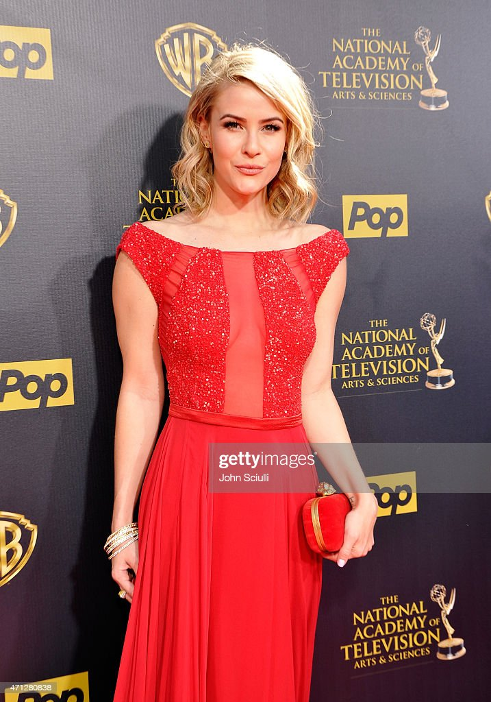Actress <a gi-track='captionPersonalityLinkClicked' href=/galleries/search?phrase=Linsey+Godfrey&family=editorial&specificpeople=7905776 ng-click='$event.stopPropagation()'>Linsey Godfrey</a> attends The 42nd Annual Daytime Emmy Awards at Warner Bros. Studios on April 26, 2015 in Burbank, California.