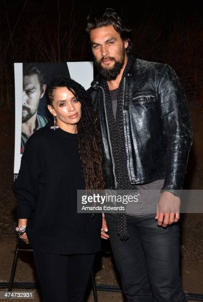Actress Lisa Bonet and actor Jason Momoa arrive at the Sundance Channel's premiere screening of their new series 'The Red Road' at The Bronson Caves...