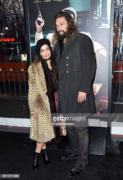 Actress Lisa Bonet and actor Jason Momoa attends the premiere of Warner Bros Pictures' 'Live By Night' at TCL Chinese Theatre on January 9 2017 in...
