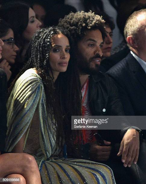 Actress Lisa Bonet and recording artist Lenny Kravitz attend Saint Laurent at the Palladium on February 10 2016 in Los Angeles California for the...