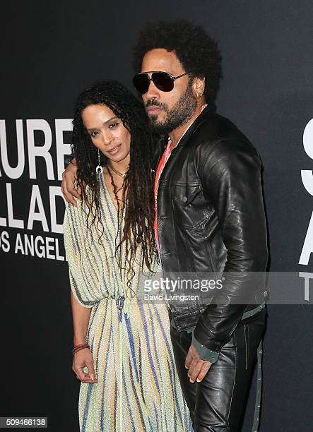 Actress Lisa Bonet and recording artist Lenny Kravitz attend Saint Laurent at Hollywood Palladium on February 10 2016 in Los Angeles California