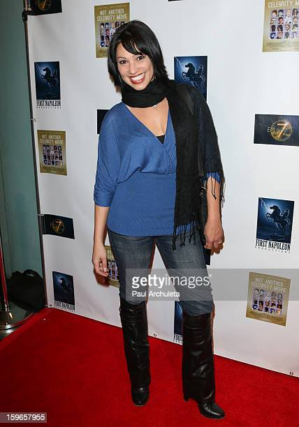 Actress Lisa Catara attends the premiere for 'Not Another Celebrity Movie' at Pacific Design Center on January 17 2013 in West Hollywood California