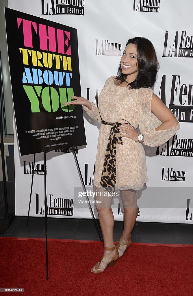 Actress Lisa Catara attends 'The Truth About You' - Los Angeles Premiere at Regal 14 at LA Live Downtown on October 19, 2013 in Los Angeles, California.