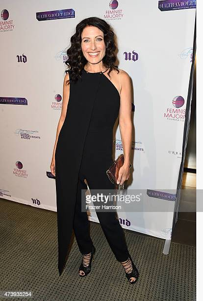 Actress Lisa Edelstein arrives at The Feminist Majority Foundation's 10th Annual Global Women's Rights Awards with Urban decay Honoering Shonda...