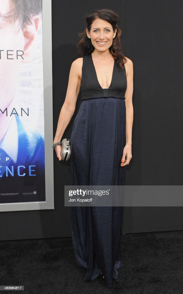Actress Lisa Edelstein arrives at the Los Angeles premiere 'Transcendence' at Regency Village Theatre on April 10 2014 in Westwood California
