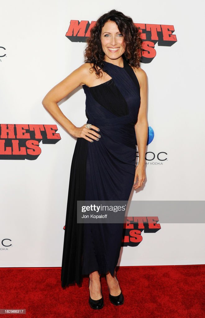 Actress <a gi-track='captionPersonalityLinkClicked' href=/galleries/search?phrase=Lisa+Edelstein&family=editorial&specificpeople=216555 ng-click='$event.stopPropagation()'>Lisa Edelstein</a> arrives at the Los Angeles Premiere 'Machete Kills' at Regal Cinemas L.A. Live on October 2, 2013 in Los Angeles, California.