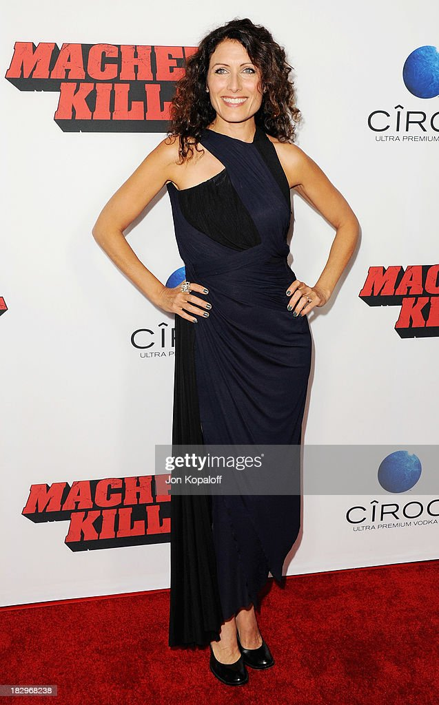 Actress Lisa Edelstein arrives at the Los Angeles Premiere 'Machete Kills' at Regal Cinemas L.A. Live on October 2, 2013 in Los Angeles, California.