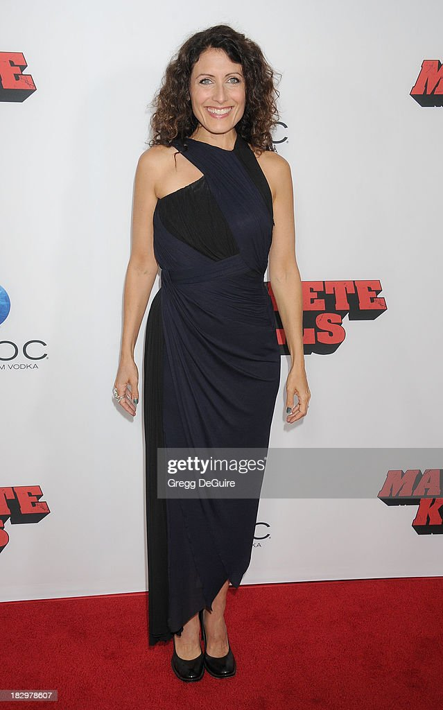 Actress Lisa Edelstein arrives at the Los Angeles premiere of 'Machete Kills' at Regal Cinemas L.A. Live on October 2, 2013 in Los Angeles, California.