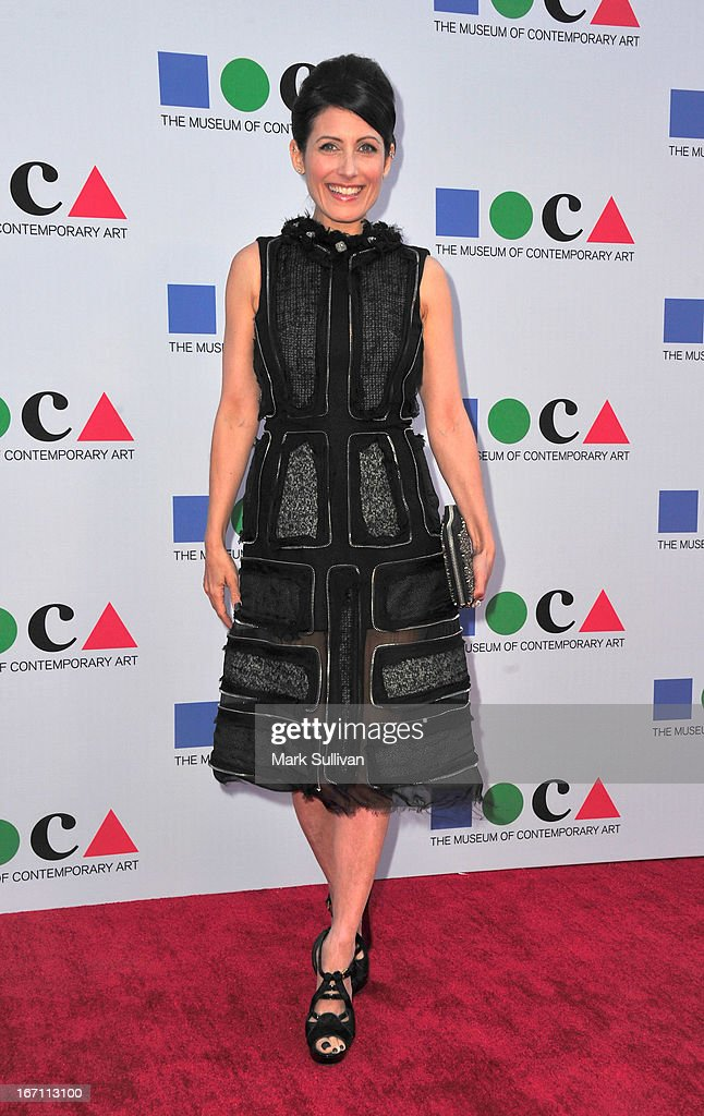 Actress Lisa Edelstein arrives for 'Yesssss!' 2013 MOCA Gala, Celebrating The Opening Of The Exhibition Urs Fischer at MOCA Grand Avenue on April 20, 2013 in Los Angeles, California.