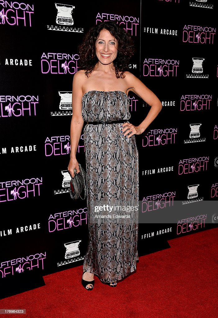 Actress <a gi-track='captionPersonalityLinkClicked' href=/galleries/search?phrase=Lisa+Edelstein&family=editorial&specificpeople=216555 ng-click='$event.stopPropagation()'>Lisa Edelstein</a> arrrives at the Los Angeles premiere of 'Afternoon Delight' at ArcLight Hollywood on August 19, 2013 in Hollywood, California.