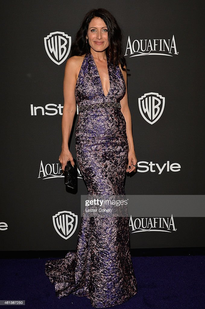 Actress Lisa Edelstein attends the 16th Annual Warner Bros and InStyle PostGolden Globe Party at The Beverly Hilton Hotel on January 11 2015 in...