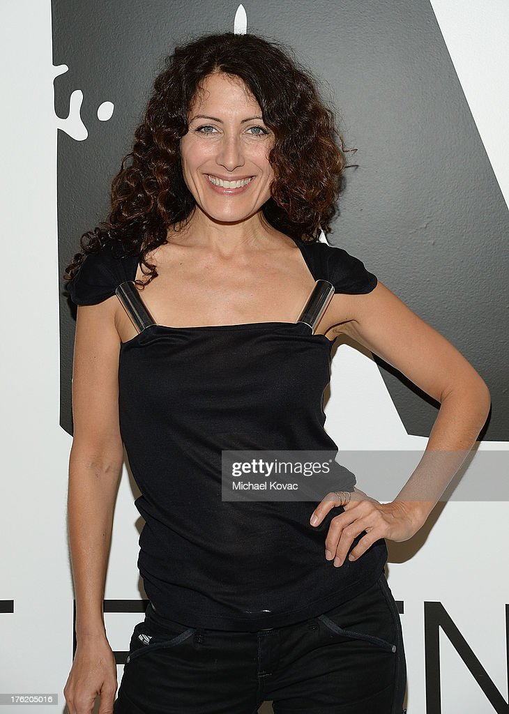 Actress Lisa Edelstein attends the NKLA Pet Adoption Center Opening Celebration at the NKLA Pet Adoption Center on August 11 2013 in Los Angeles...