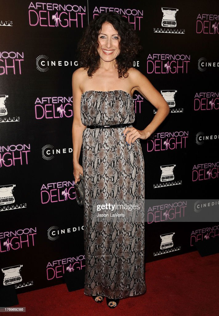 Actress <a gi-track='captionPersonalityLinkClicked' href=/galleries/search?phrase=Lisa+Edelstein&family=editorial&specificpeople=216555 ng-click='$event.stopPropagation()'>Lisa Edelstein</a> attends the premiere of 'Afternoon Delight' at ArcLight Hollywood on August 19, 2013 in Hollywood, California.