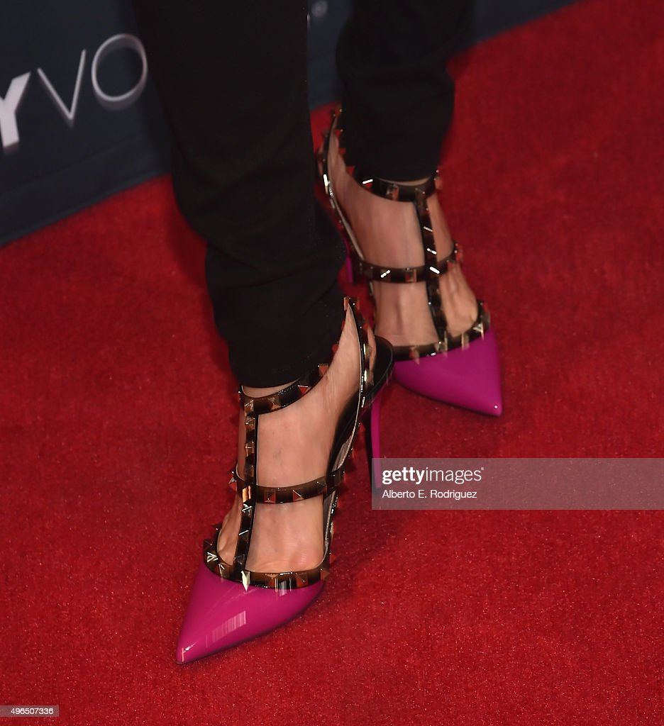 Actress Lisa Edelstein, shoe detail, attends the Premiere Of Amazon's 'Transparent' Season 2 at SilverScreen Theater at the Pacific Design Center on November 9, 2015 in West Hollywood, California.