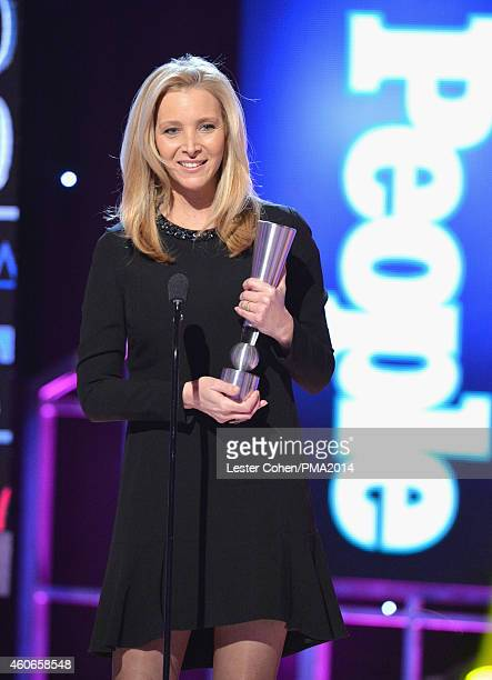 Actress Lisa Kudrow accepts the TV Actress of the Year Award onstage during the PEOPLE Magazine Awards at The Beverly Hilton Hotel on December 18...
