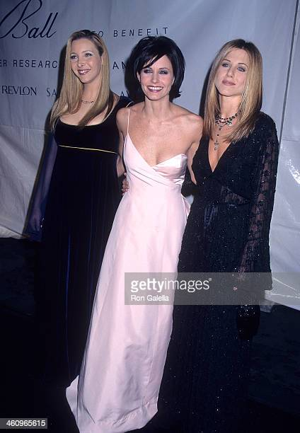 Actress Lisa Kudrow actress Courteney Cox and actress Jennifer Aniston attend the Eighth Annual Fire Ice Ball to Benefit the Revlon/UCLA Women's...