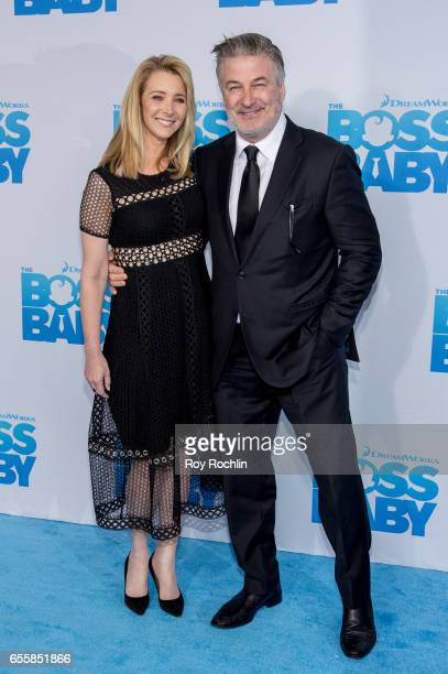 Actress Lisa Kudrow and Actor Alec Baldwin attends 'The Boss Baby' New York Premiere at AMC Loews Lincoln Square 13 theater on March 20 2017 in New...