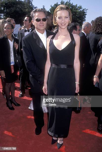 Actress Lisa Kudrow and husband Michel Stern attend the 50th Annual Primetime Emmy Awards on September 13 1998 at the Shrine Auditorium in Los...
