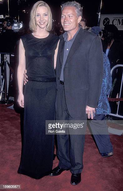 Actress Lisa Kudrow and husband Michel Stern attend the 'Analyze This' Westwood Premiere on March 1 1999 at the Mann Village Theatre in Westwood...