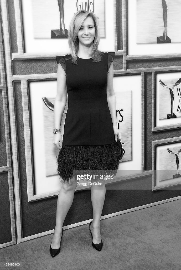 Actress Lisa Kudrow arrives at the 2015 Writers Guild Awards L.A. Ceremony at the Hyatt Regency Century Plaza on February 14, 2015 in Los Angeles, California.