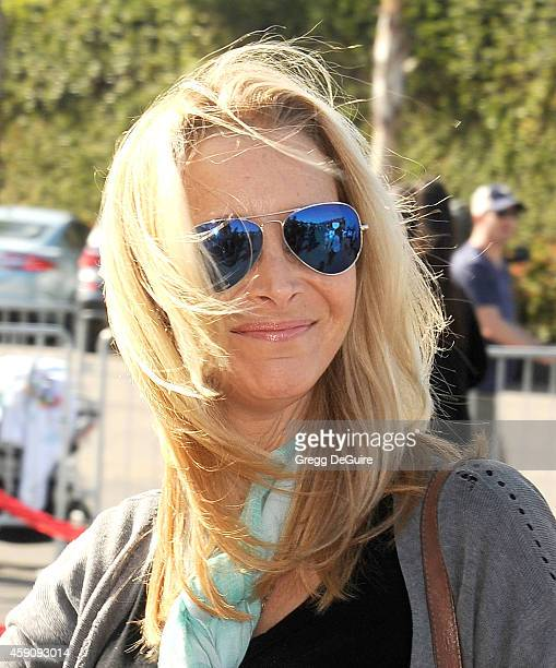 Actress Lisa Kudrow arrives at the PS ARTS Express Yourself 2014 at The Barker Hanger on November 16 2014 in Santa Monica California