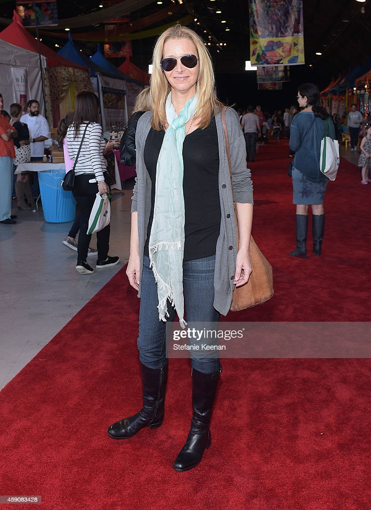 Actress Lisa Kudrow attends P.S. ARTS presents Express Yourself 2014 with sponsors OneWest Bank and Jaguar Land Rover at Barker Hangar on November 16, 2014 in Santa Monica, California.