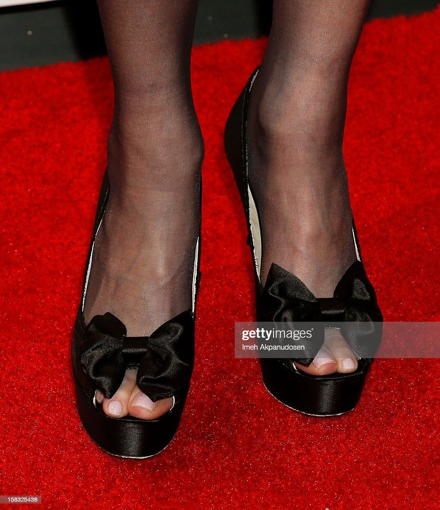 Actress Lisa Kudrow (shoe detail) attends the 14th Annual Women's Image Network Awards at Paramount Theater on the Paramount Studios lot on December 12, 2012 in Hollywood, California.