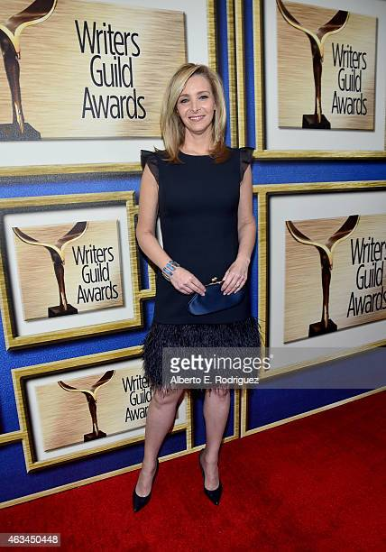 Actress Lisa Kudrow attends the 2015 Writers Guild Awards LA Ceremony at the Hyatt Regency Century Plaza on February 14 2015 in Century City...