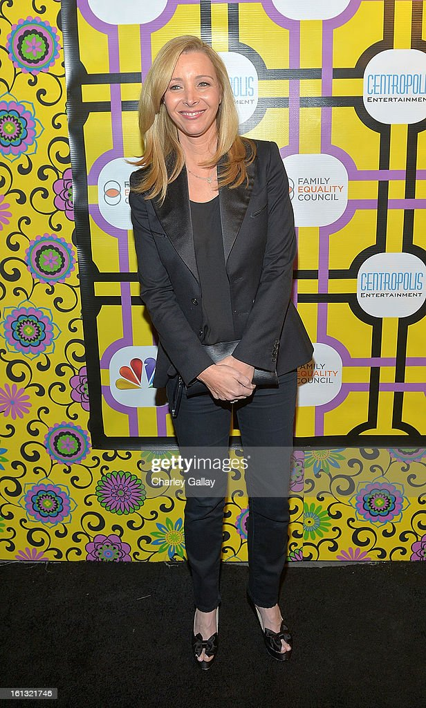 Actress <a gi-track='captionPersonalityLinkClicked' href=/galleries/search?phrase=Lisa+Kudrow&family=editorial&specificpeople=202079 ng-click='$event.stopPropagation()'>Lisa Kudrow</a> attends the Family Equality Council LA Awards Dinner at The Globe Theatre at Universal Studios on February 9, 2013 in Universal City, California.