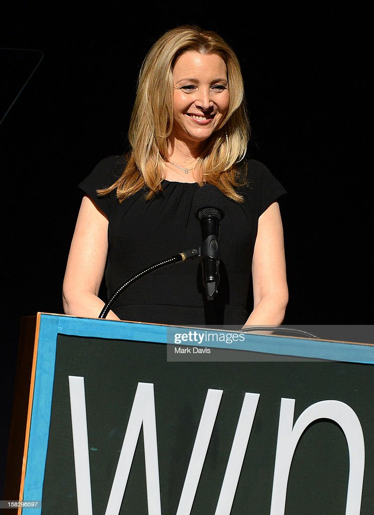Actress <a gi-track='captionPersonalityLinkClicked' href=/galleries/search?phrase=Lisa+Kudrow&family=editorial&specificpeople=202079 ng-click='$event.stopPropagation()'>Lisa Kudrow</a> speaks onstage during the 14th Annual Women's Image Network Awards at Paramount Theater on the Paramount Studios lot on December 12, 2012 in Hollywood, California.