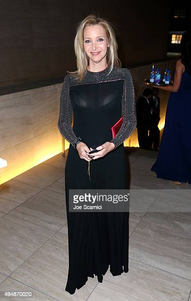 Actress Lisa Kudrow with FIJI Water At amfAR's Inspiration Gala Los Angeles at Milk Studios on October 29 2015 in Hollywood California