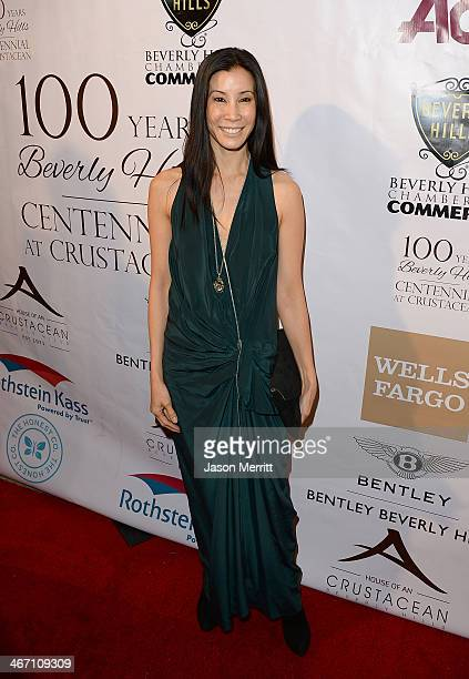 Actress Lisa Ling attends the EXPERIENCE East Meets West event hosted by the Beverly Hills chamber of commerce at Crustacean on February 5 2014 in...