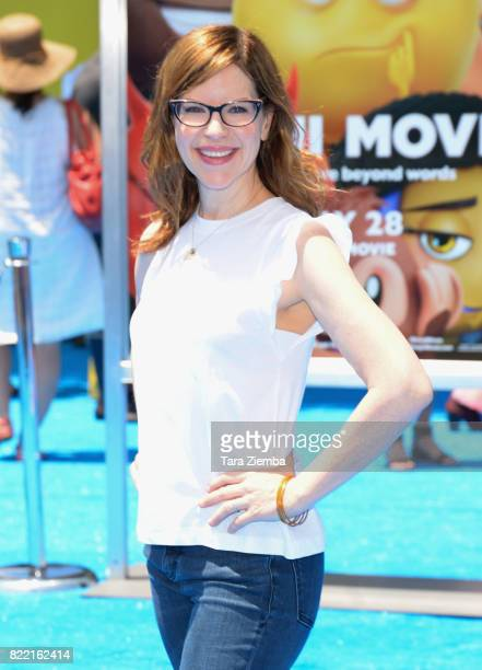 Actress Lisa Loeb attends the premiere of Columbia Pictures and Sony Pictures Animation's 'The Emoji Movie' at Regency Village Theatre on July 23...