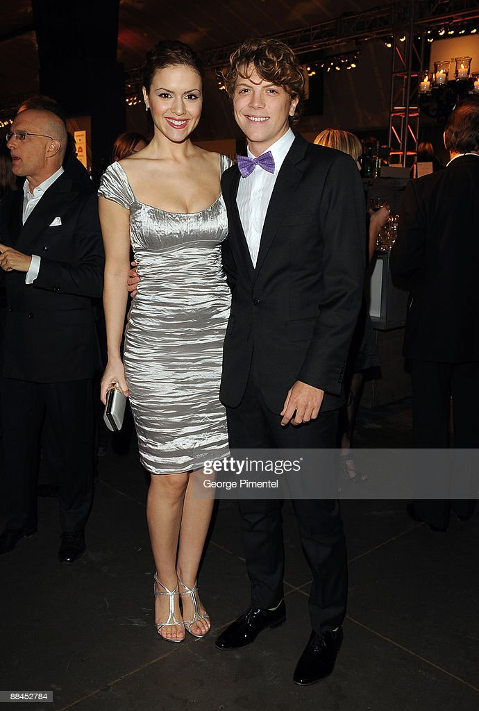 Actress Lisa Marcos and actor Michael Seater attend the Canadian Film Centre 2009 Gala and Auction at the Kool Haus on February 11, 2009 in Toronto, Ontario, Canada.