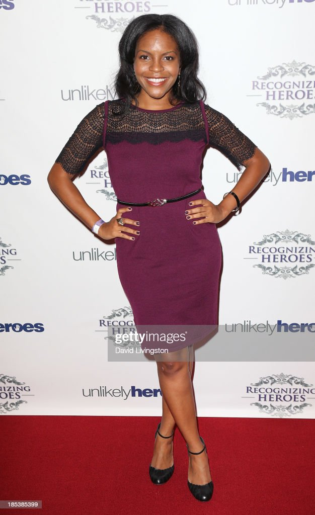 Actress Lisa Nicole Bell attends the Unlikely Heroes' Recognizing Heroes Awards Dinner & Gala at The Living Room at The W Hotel on October 19, 2013 in Los Angeles, California.