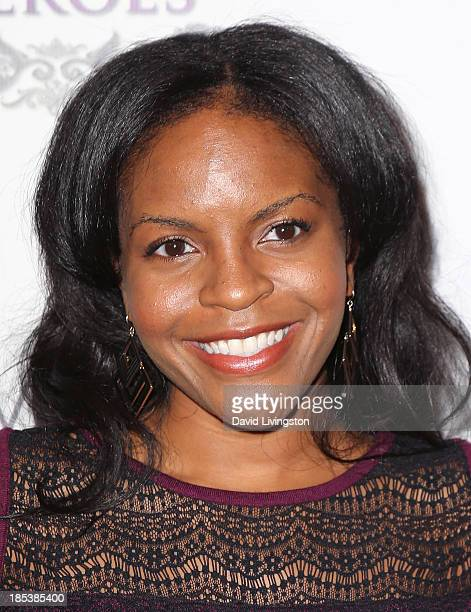 Actress Lisa Nicole Bell attends the Unlikely Heroes' Recognizing Heroes Awards Dinner Gala at The Living Room at The W Hotel on October 19 2013 in...