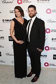Actress Lisa Osbourne and Jack Osbourne attend the 23rd Annual Elton John AIDS Foundation's Oscar Viewing Party on February 22 2015 in West Hollywood...