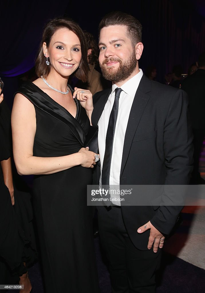 Actress Lisa Osbourne (L) and tv personality Jack Osbourne attend ROCA PATRON TEQUILA at the 23rd Annual Elton John AIDS Foundation Academy Awards Viewing Party on February 22, 2015 in Los Angeles, California.