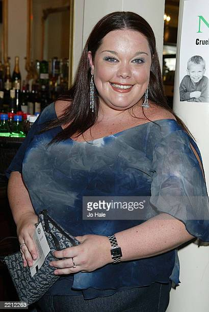 Actress Lisa Riley attends the Stars In Their Eyes Live charity gala performance at Her Majesty's Theatre July 27 2003 in London