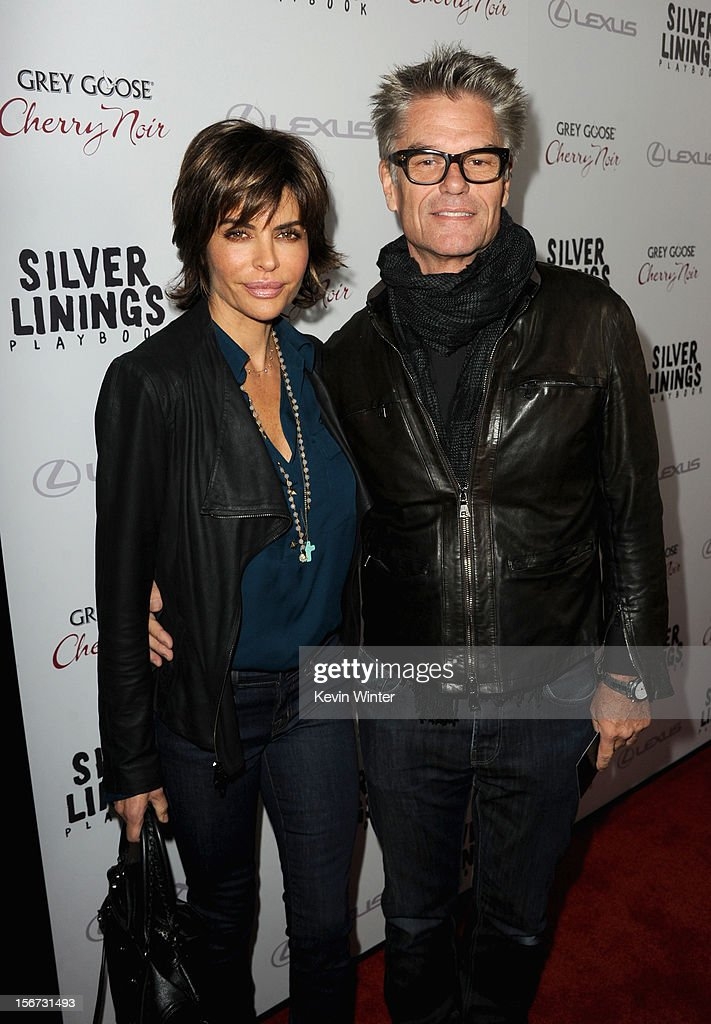Actress <a gi-track='captionPersonalityLinkClicked' href=/galleries/search?phrase=Lisa+Rinna&family=editorial&specificpeople=202100 ng-click='$event.stopPropagation()'>Lisa Rinna</a> and actor <a gi-track='captionPersonalityLinkClicked' href=/galleries/search?phrase=Harry+Hamlin&family=editorial&specificpeople=211584 ng-click='$event.stopPropagation()'>Harry Hamlin</a> attend a screening of The Weinstein Company's 'Silver Linings Playbook' at the Academy of Motion Picture Arts and Sciences on November 19, 2012 in Beverly Hills, California.