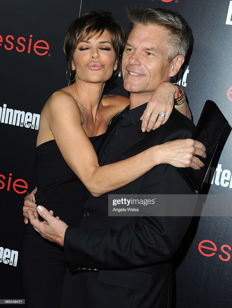 Actress <a gi-track='captionPersonalityLinkClicked' href=/galleries/search?phrase=Lisa+Rinna&family=editorial&specificpeople=202100 ng-click='$event.stopPropagation()'>Lisa Rinna</a> and actor <a gi-track='captionPersonalityLinkClicked' href=/galleries/search?phrase=Harry+Hamlin&family=editorial&specificpeople=211584 ng-click='$event.stopPropagation()'>Harry Hamlin</a> attend the Entertainment Weekly celebration honoring this year's SAG Awards nominees sponsored by TNT & TBS and essie at Chateau Marmont on January 17, 2014 in Los Angeles, California.
