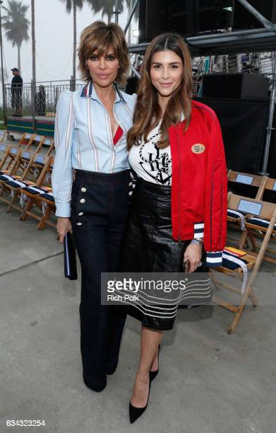 Actress Lisa Rinna and Shiva Safai at the TommyLand Tommy Hilfiger Spring 2017 Fashion Show on February 8 2017 in Venice California