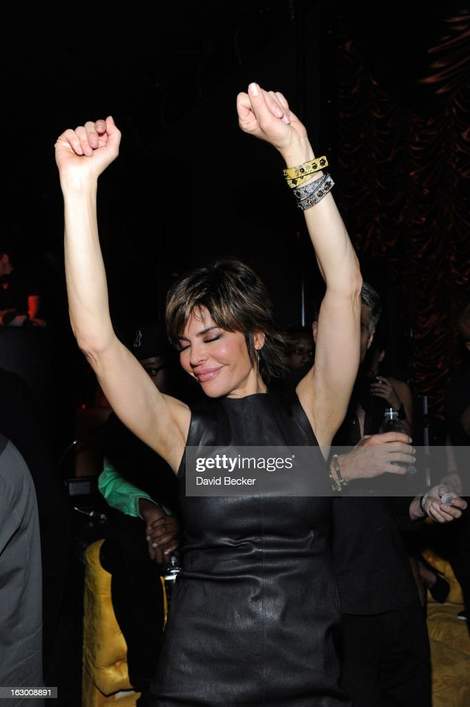 Actress Lisa Rinna appears at the Surrender Nightclub at Encore Las Vegas in celebration of the season premiere of 'All-Star Celebrity Apprentice' on March 2, 2013 in Las Vegas, Nevada.