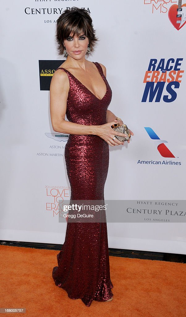 Actress Lisa Rinna arrives at the 20th Annual Race To Erase MS Gala 'Love To Erase MS' at the Hyatt Regency Century Plaza on May 3, 2013 in Century City, California.