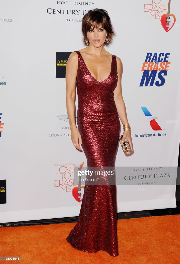 Actress Lisa Rinna arrives at the 20th Annual Race To Erase MS 'Love To Erase MS' Gala at the Hyatt Regency Century Plaza on May 3, 2013 in Century City, California.